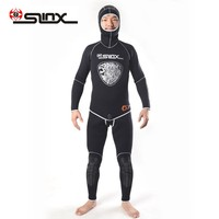 New 5MM Neoprene Wetsuit 2 Piece with Hood Wet Suit Scuba Diving Spearfishing Wet Suit Stretch Max Farmer John Wetsuit