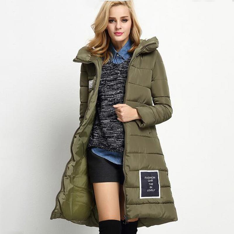 ФОТО hot sale new fashion women winter jacket thickening warm hooded cotton coat loose larger size ladies long parka overcoat kp0776