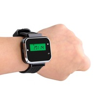 433 92MHz Wireless Guest Queuing Paging System Watch Receiver Call Pager For Restaurant Coffee Waiter Calling