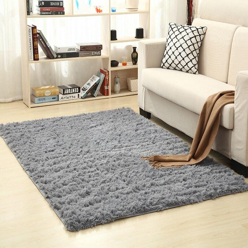 Super Weiche Seide Wolle Teppich Innen Moderne Shag Bereich Teppich Seidige Teppiche Schlafzimmer Boden Matte Baby Kindergarten Teppich Kinder Teppich