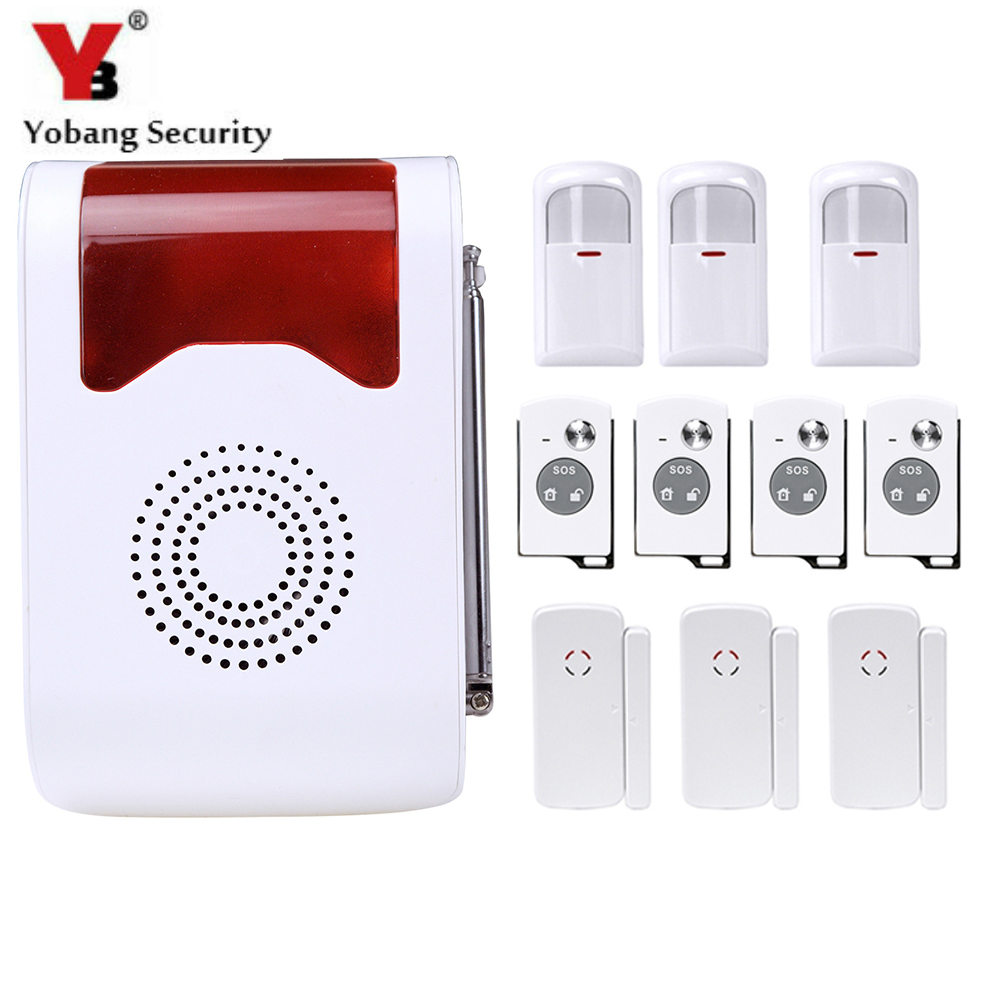 YobangSecurity Remote Control Wireless Anti-Theft Voice Home Security Alarm System PIR Motion Door Window Sensor Smoke Detector yobangsecurity touch keypad wifi gsm gprs home security voice burglar alarm ip camera smoke detector door pir motion sensor