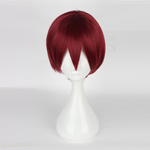Ensemble Stars Suou Tsukasa Cosplay Wigs Anime Costume Party Wig Heat Resistant Synthetic Hair 30cm Short Dark Red Hair