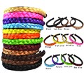 2016 New Fashion Synthetic Women Girl Hair Plaited Elastic Headband Braided Hair Bands Head accessories 12 Color  Black Bown