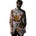 Красивый Сторона Закрытия Африканский Рубашки Мужские Красочные Топы Африканской Печати Элемент Dashiki Одежда Портной На Заказ Для Свадьбы/Партии