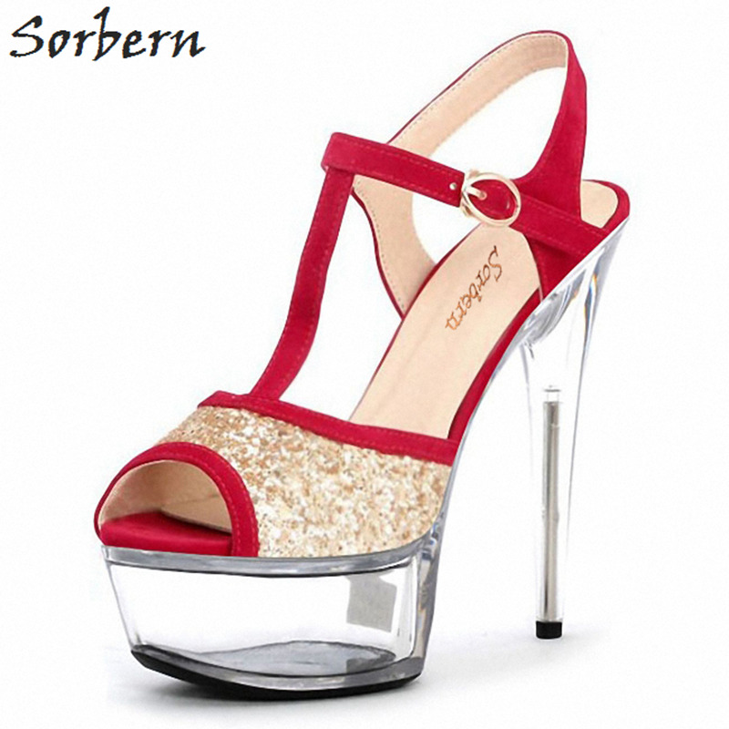 Sorbern Silver Glitter Women Sandal Spike High Heels Summer Shoes Platform Heels Womens Platform Heel Sandals Women Luxury цена