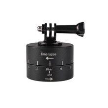 Kaliou 360 degrés rotatif automatique 60 minutes temporisateur pour trépied tête photographie retard tête dinclinaison automatique pour Gopro