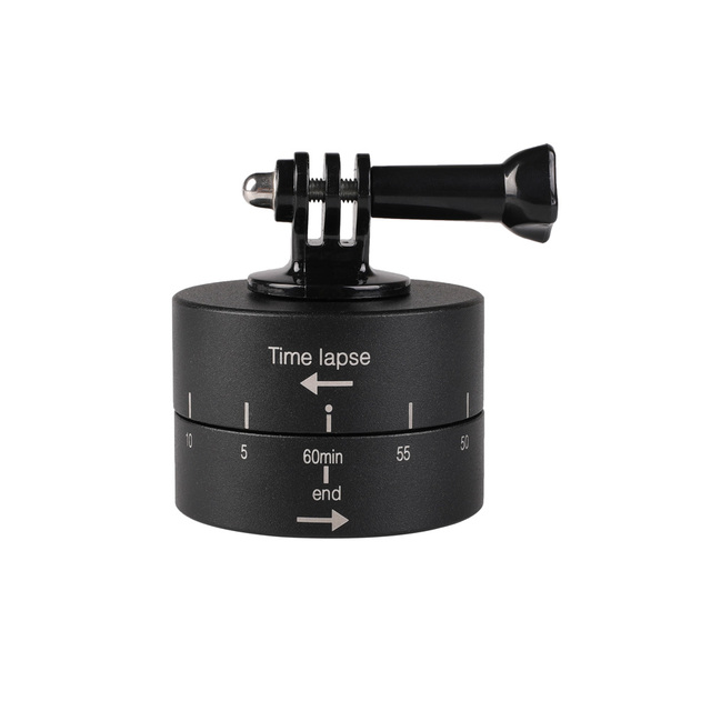 Kaliou 360 degree Rotating Automatic 60 minute Time Lapse Timer for Tripod Head Photography Delay Automatic Tilt Head for Gopro