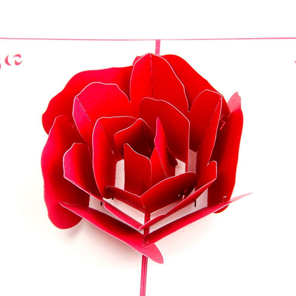 роза для объемной открытки работа была