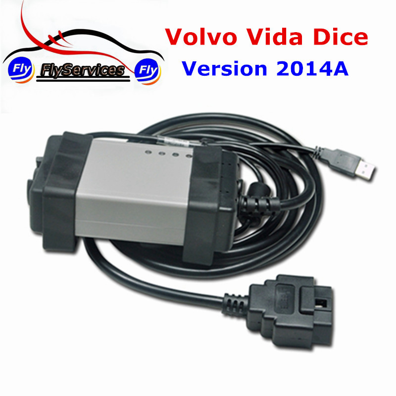 New Arival 2014A Professional Diagnostic Tool For Volvo Dice For Volvo Vida Dice Support Multi-languages 2017 new arrival obd tool for fuel injected for honda motorcycles support multi languages used on laptop or netbook
