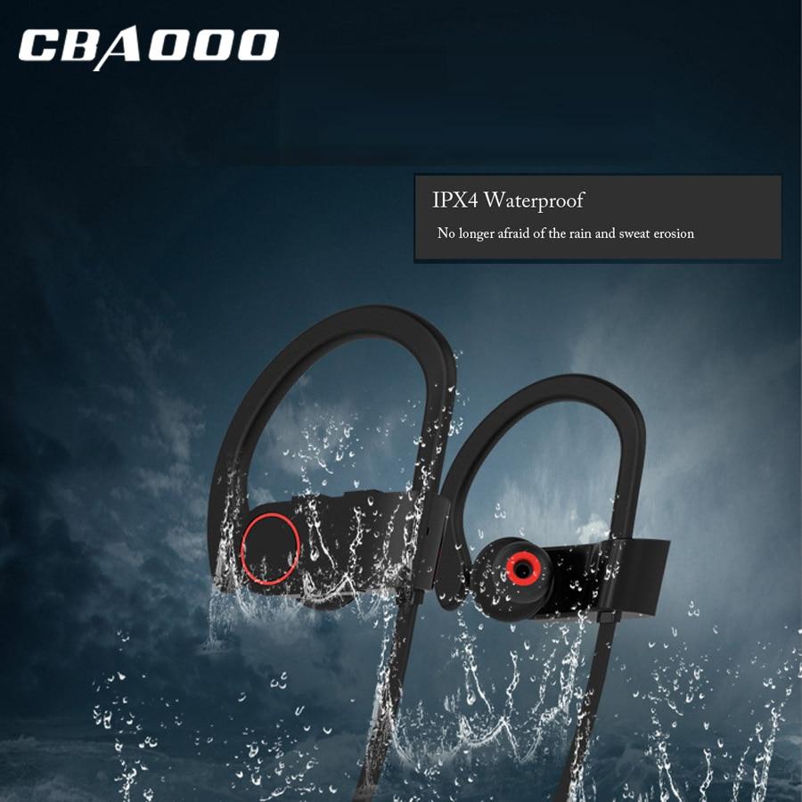 Heißer CBAOOO Drahtlose Kopfhörer Bluetooth Kopfhörer Kopfhörer Für Telefon Neckband Sport Headset Bluetooth V4.1 Freihändiger Mit Mic