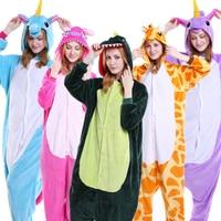 Autumn And Winter Stitch Unicorn Panda Bear Koala Pikachu Adult Unisex Cosplay Flannel Animal Pajama