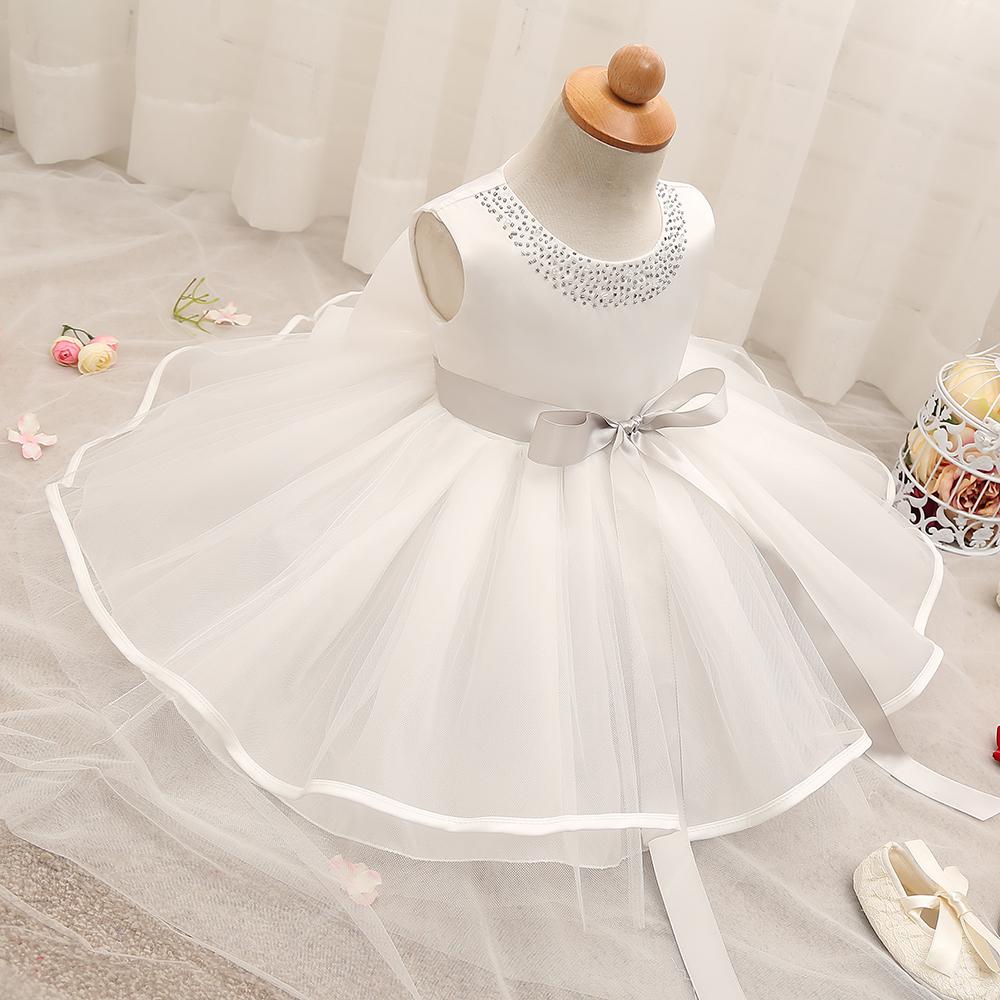 Baby girl linen dress Baptism dress Christening dress Flower girl dress Baby girl dress for wedding Girl pink white dress Photo prop girl