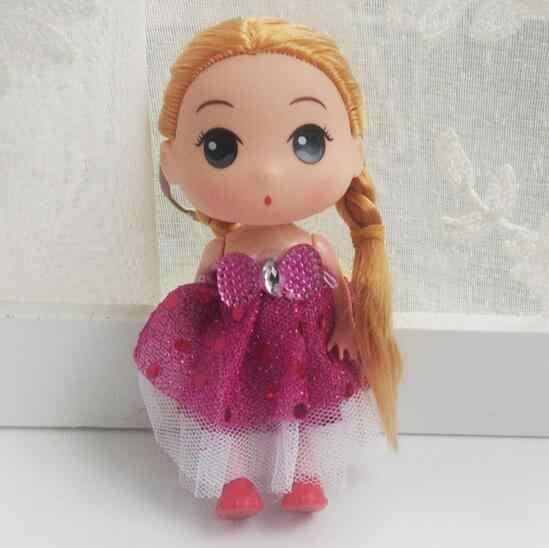 Envío Gratis 12cm mini lindo 2017 Nuevo hermoso hecho a mano fiesta vestido ropa de moda muñecas baby dolls