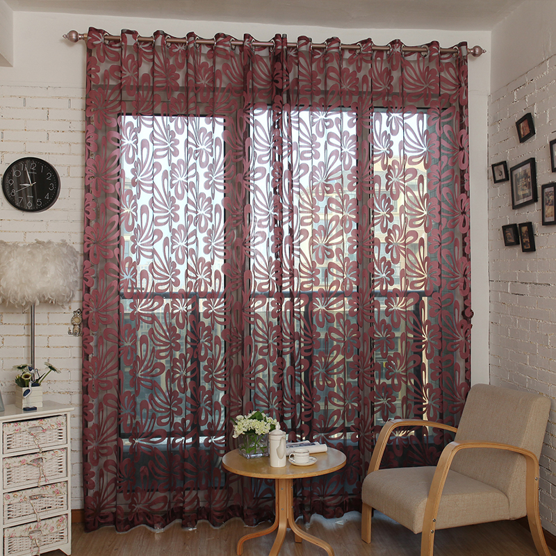 Attractive Top Finel Geometric Modern Window Sheer Curtain Panels For Living Room The  Bedroom Kitchen Blinds Window Treatments Draperies In Curtains From Home U0026  Garden ...