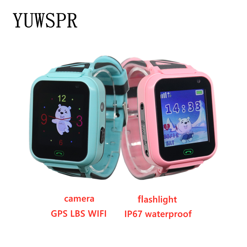 Children Clock Watch Tracker Flashlight Waterproof Kids HD IP67 T16 1pcs Camera Location