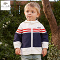 DB4934 dave bella spring baby boys girls printed  hoodies spring  sweatshirt children coat boys hoodie kids coat