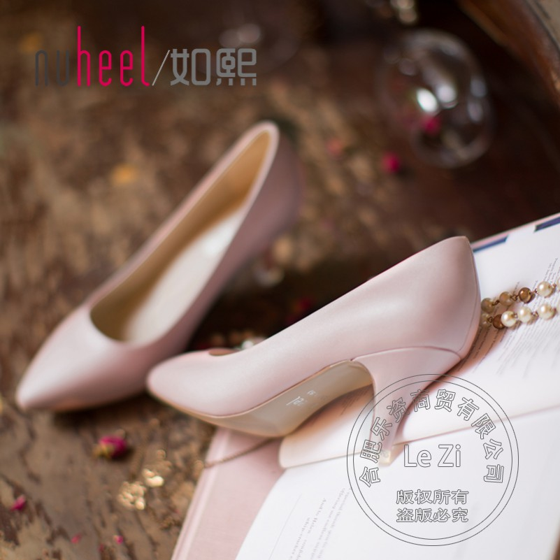 Shallow Mouth Low Heel Shoes 2015 Pull On Leisure Cheap Young Gril Pointed Toe For Sale