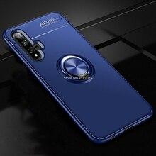 for Huawei Nova 5 Pro Nova5 Honor 20 V20 20Pro 5Pro Case Magnetic Car Holder Shockproof Case Finger Ring Matte Soft Cover Coque