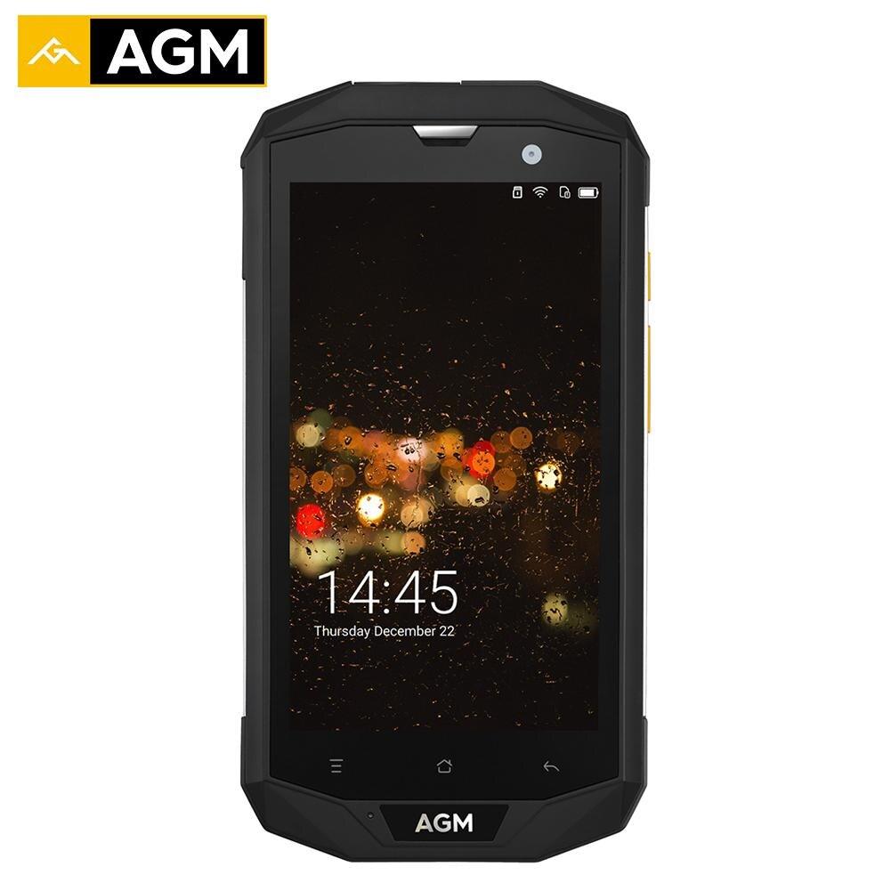 AGM A8 IP68 Étanche Téléphone Mobile 5.0 HD 3 GB RAM 32 GB ROM Qualcomm MSM8916 Quad Core 13.0MP 4050 mAh NFC OTG Téléphone téléphone