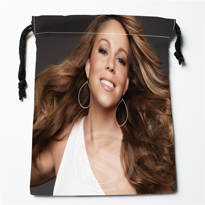 W-64 New Mariah Carey  Custom Logo Printed  Receive Bag  Bag Compression Type Drawstring Bags Size 18X22cm W801R64