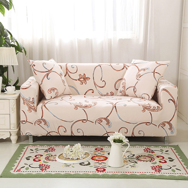 Flower Design Elastic L Shaped Sofa Cover Love Seat Universal Stretch Funda Sectional Armchair Covers