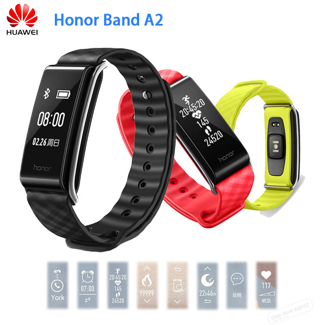 In Stock Original Huawei Honor Color Band A2 Smart Wristband 0.96 OLED Screen Heart Rate Monitor Show Message End Call IP67 huawei honor a2 smart wristband 0 96 oled screen heart rate monitor show message end call ip67 glory play bracelet a2