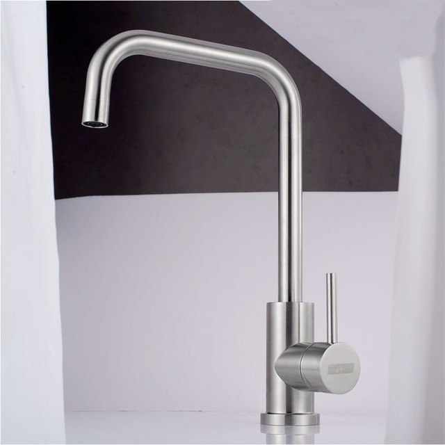 304 Stainless Steel Kitchen Faucet Lead Free Brushed Nickel Kitchen