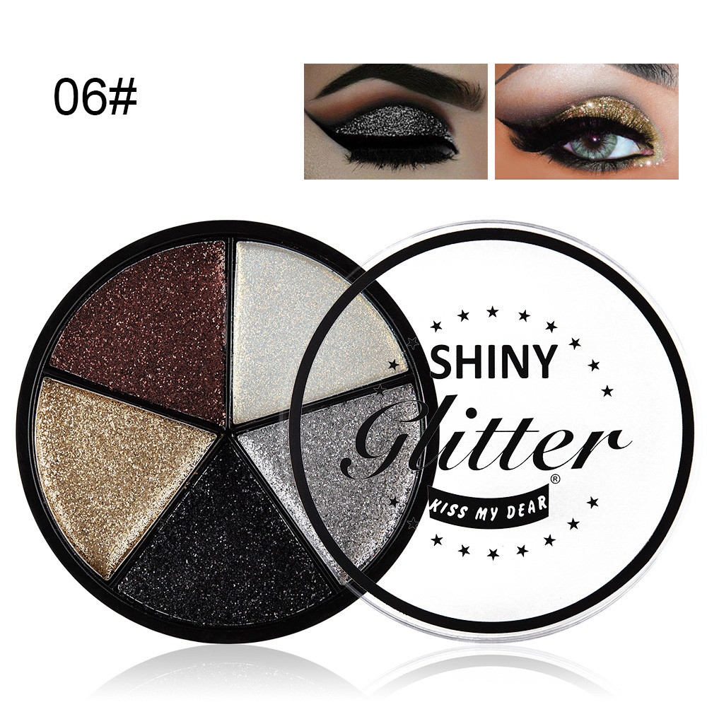 shadows are shiny 5 Color Glitter Eyeshadow Cream Makeup Waterproof Brighten Eye Shadow Cosmetic palette maquillage yeux #y2 1