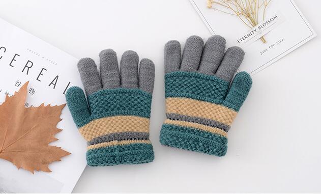 2018 moda de punto mujeres niñas lana mano muñeca calentador guantes de invierno Soft Warm Mitten s76