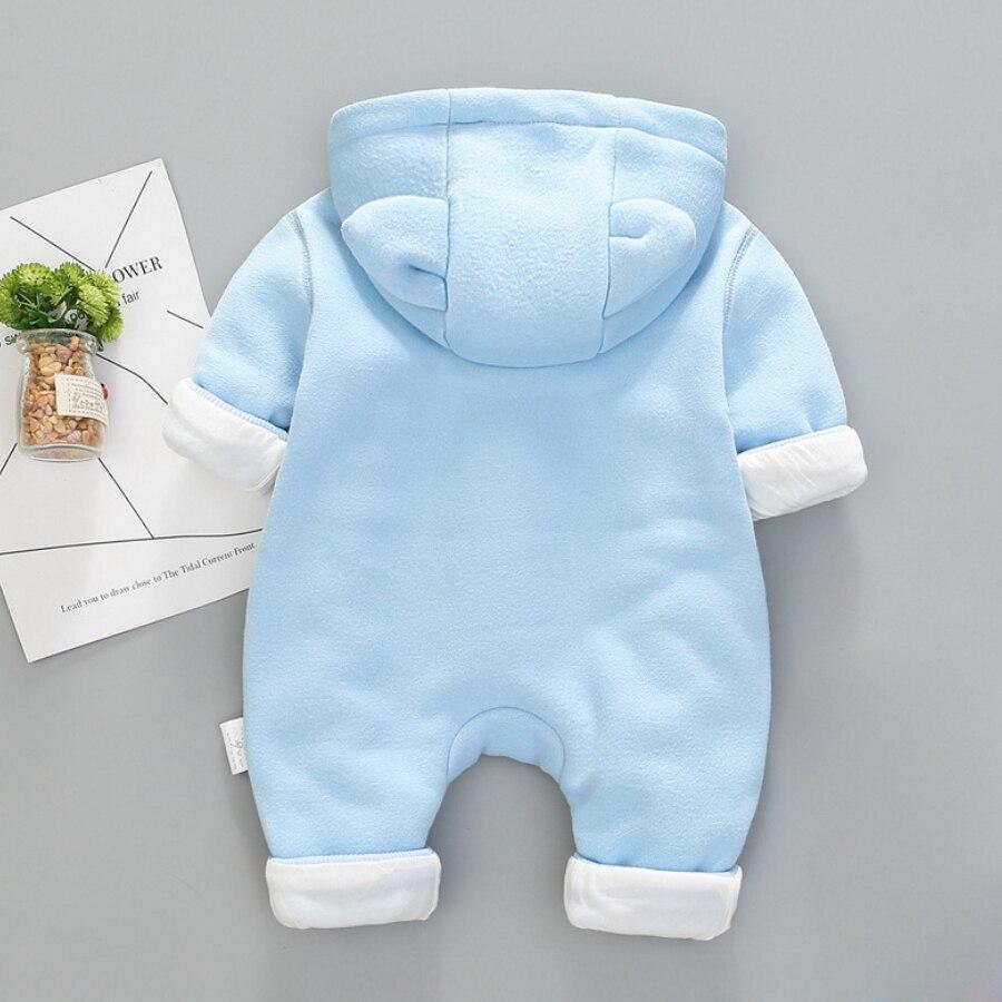 97c3255073e7 IYEAL Autumn Winter Baby Boy Clothes Baby Rompers Fleece Newborn ...
