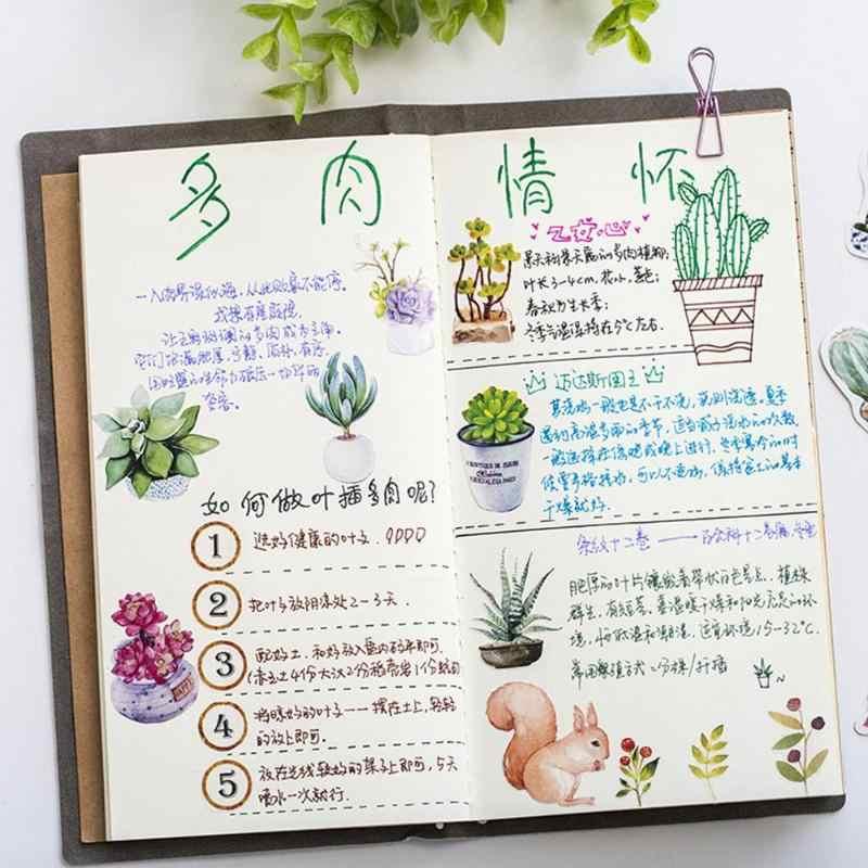 50 pçs/set Criativo Cactus Planta Verde Flor Bonito Dos Desenhos Animados Adesivos Criativos Papelaria DIY Scrapbooking Diário Notebook
