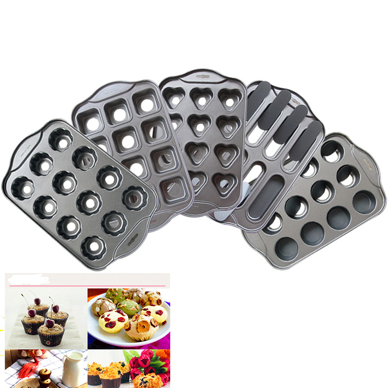 Nonstick Mini Cheesecake Pan, 12 Count Removable Bottom Cupcake Muffin Metal Mold For Baking Bakeware