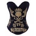 Mujeres gaine steampunk cintura Trainer ropa mujeres bustier corsé gótico corsés sexy corsé de algodón superior para venta de ropa gótica