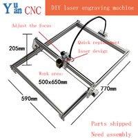 6550 DIY CNC Machine Laser Engraving Machine Wood Router Mini Marking Machine Advanced Toys Blue Violet