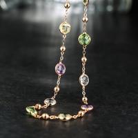 Neoglory Сделано с элементами SWAROVSKI Кристаллы Светло желтый Колье цепи макси длинные ожерелья для мужчин для женщин День святого Валентина подарки