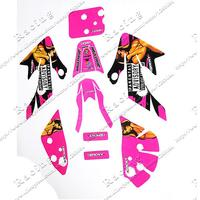 RACING Pink colour 3M graphics decals sticker Fit For honda moto dirt pit bike XR50 CRF50 Kayo Chinese Motorcycle