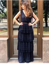 longo vestido feminino de
