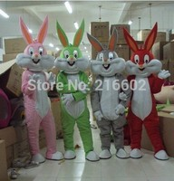 Bugs bunny mascot adult costume mascot costume sales customized mascot costume for Halloween party costumes