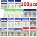 100 pcs Dental Diamante Burs Médio FG 1.6mm para a Alta Velocidade Handpiece Turbina NOVA