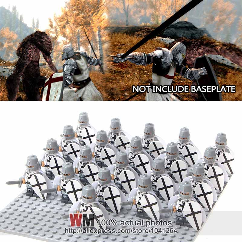 Dependable Building Blocks 21pcs/lot Wm1022 Crusader Rome Commander Soldiers Medieval Knights Army Group Toys Children Gifts No Baseplate Elegant In Smell Toys & Hobbies