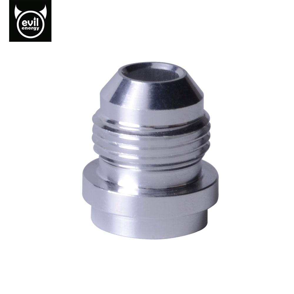 An8 8an an 8 45 degree reusable swivel ptfe hose end - Evil Energy An8 An 8 Male Aluminum Weld Bungs Weld Adapter On Fitting Round Base