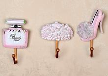 Новая Мода Горячий Продавать Творческий Европейский Стиль Металла Стены Крюк Высокой качество Пальто и Сумка Держатель Тяжелых Стены Декор Цветок Крюк