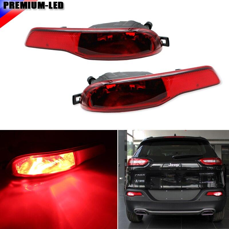 iJDM Complete Set LED Rear Fog Light Kit w High Power Red LED Bulbs Rear Foglamp