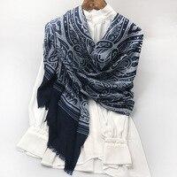 Pasily Print 100% Cashmere Scarf Shawl Wraps for Women Winter Scarves 210x105cm