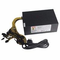 1600W Switching Power Supply ETH Ant Miner Mining Power AC 12V Rectangular Titanium Single Way With