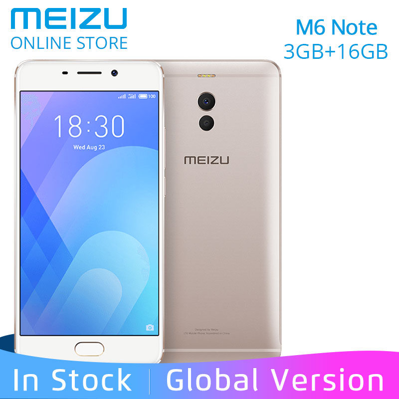Mobile Phones Original Meizu M6 Note Snapdragon 625 3gb Ram 16gb Rom 4g Lte 5.5 1080p 4000mah Android Smartphone Fast Charge Cheap Sales