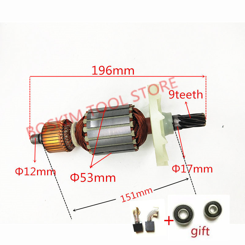 Armature Motor AC 220-240V 9 teeth Replace for HITACHI PH65A PH-65A 65A 85A 75A 95A Hammer Drill Rotor Engine Parts шлепанцы arizona happy quelle quelle 351260