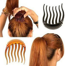 1Pc kucyk wkładki klips do włosów Bun Maker Bouffant Volume ślubne włosy grzebień kobiety puszyste koński ogon Styling Tools
