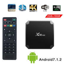 X96mini tv box android 7.1 smart tv WiFi 4K 2GB 16GB Amlogic 1GB 8GB S905W tvbox Quad Core WiFi Media Player Set-top X96 mini недорого