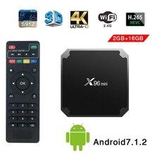 X96mini tv box android 7,1 smart tv WiFi 4 K 2 GB 16 GB Amlogic 1 GB 8 GB S905W tvbox четырехъядерный WiFi медиаплеер приставка X96 mini